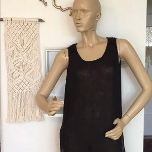 Velvet, XS Gorgeous Black Gauze Dress/Coverup